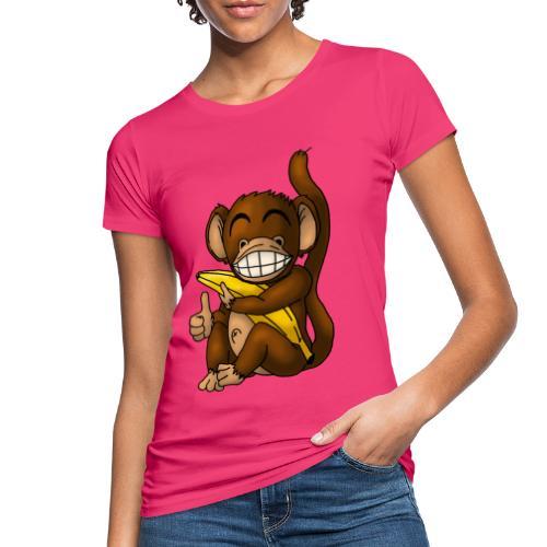 Super Fröhlicher Affe - Frauen Bio-T-Shirt