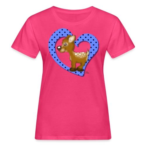 Kira Kitzi Blaubeere - Frauen Bio-T-Shirt