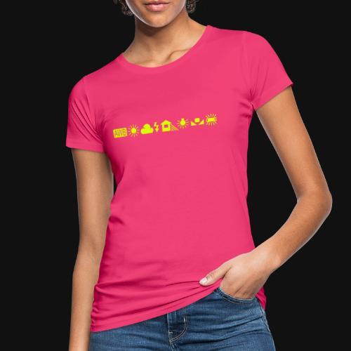 Weissabgleich Symbole Horizontal - Frauen Bio-T-Shirt