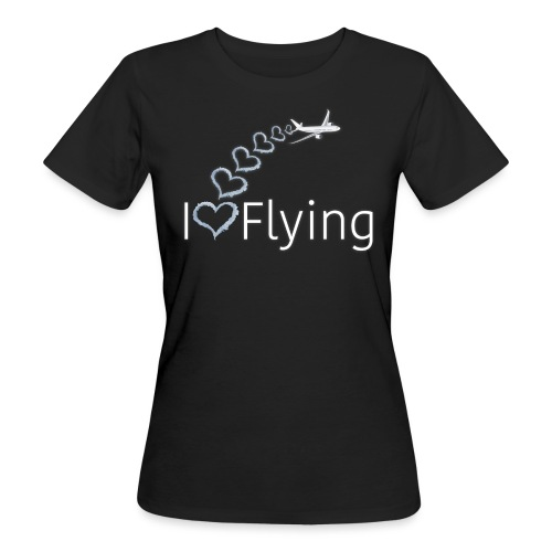I love flying wit3 - Women's Organic T-Shirt