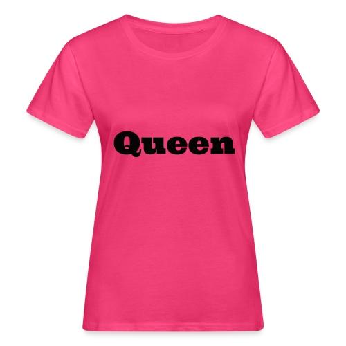 Snapback queen grijs/zwart - Vrouwen Bio-T-shirt