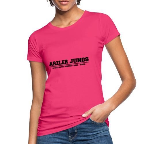 Arzler Jungs Schriftzug in Schwarz - Frauen Bio-T-Shirt