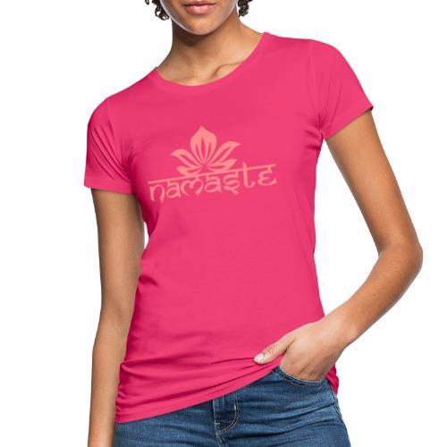 Namaste Lotus Yoga Motiv in Trendfarben MEGA - Frauen Bio-T-Shirt