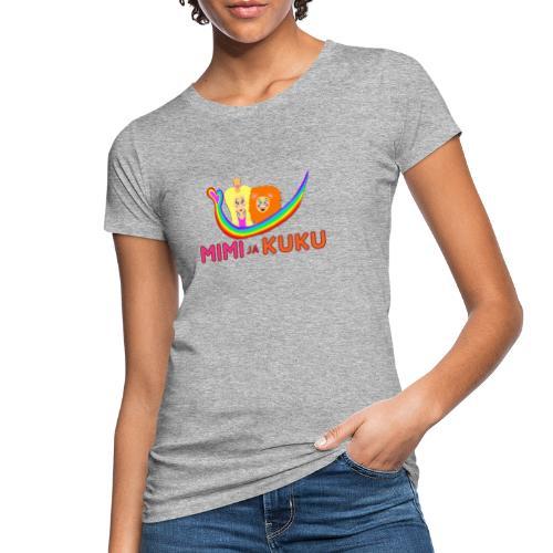 Mimi ja Kuku- sateenkaarilogolla - Naisten luonnonmukainen t-paita