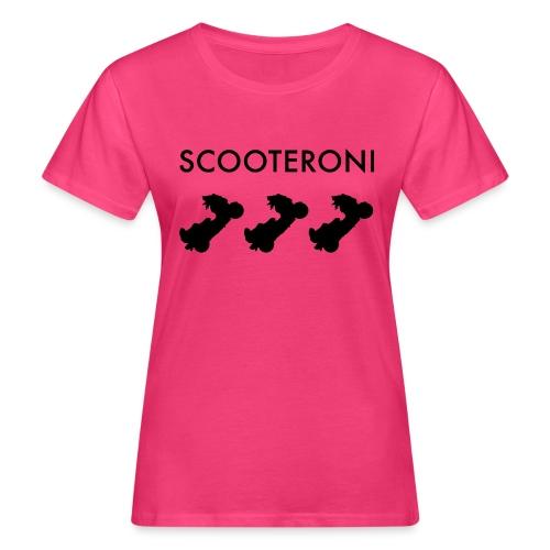 T-SHIRT SCOOTERONI BLACK - T-shirt ecologica da donna