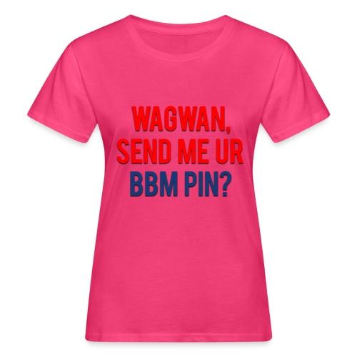 Wagwan Send BBM Clean - Women's Organic T-Shirt