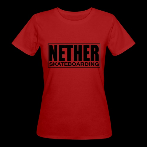 Nether Skateboarding T-shirt White - T-shirt ecologica da donna