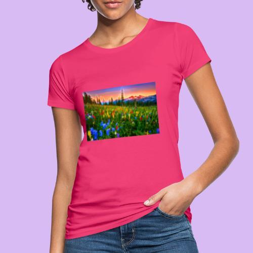 Bagliori in montagna - T-shirt ecologica da donna