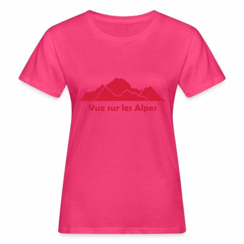 Vue sur les Alpes - T-shirt bio Femme