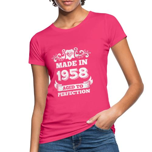 60th Birthday gift Made in 1958 Aged to Perfection - Women's Organic T-Shirt