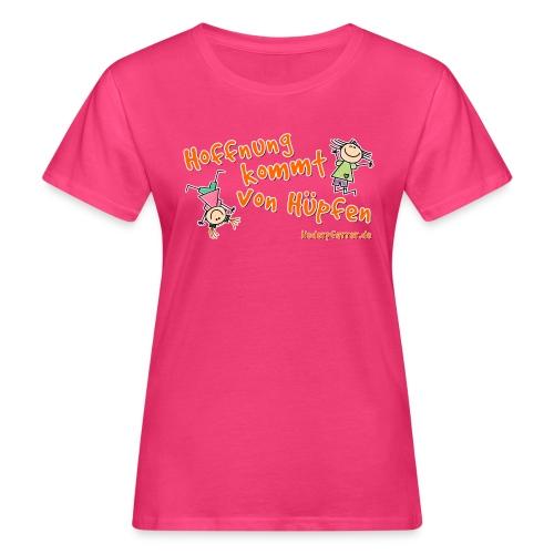 Hoffnung kommt von Hüpfen - Kinder - Frauen Bio-T-Shirt