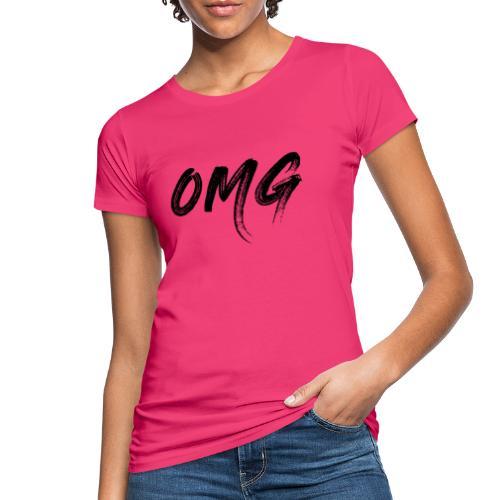 OMG, musta - Naisten luonnonmukainen t-paita