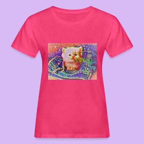 Gattino scintillante nella tasca dei jeans - T-shirt ecologica da donna