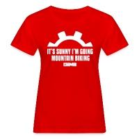It's Sunny I'm Going Mountain Biking - Women's Organic T-Shirt red