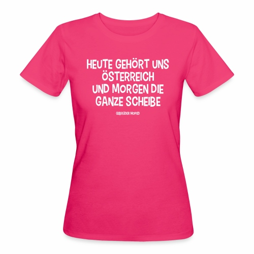 Und morgen die ganze Scheibe - Frauen Bio-T-Shirt