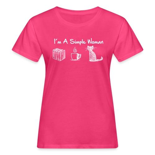 Vorschau: simple woman cat books - Frauen Bio-T-Shirt