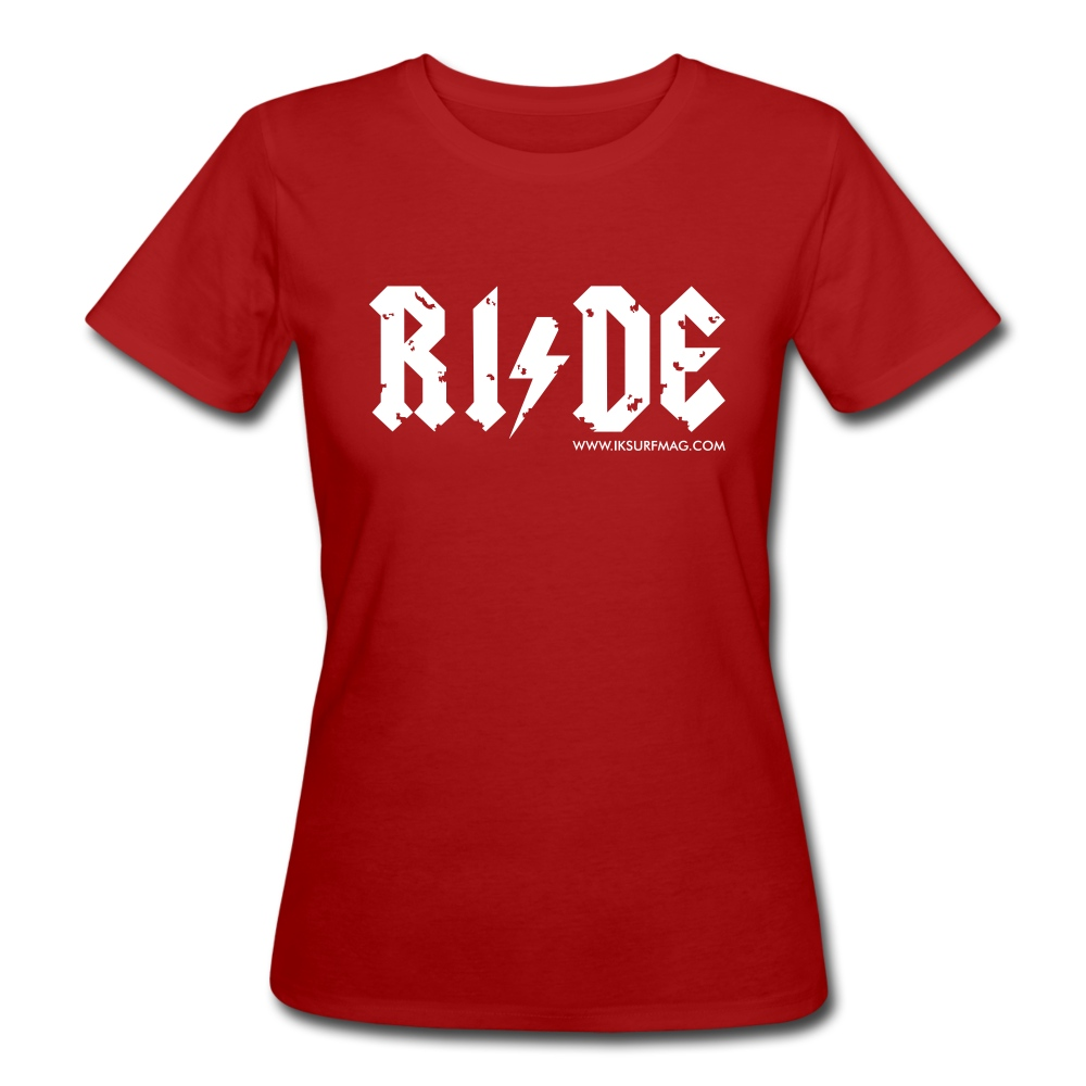 RIDE - Women's Organic T-Shirt - dark red