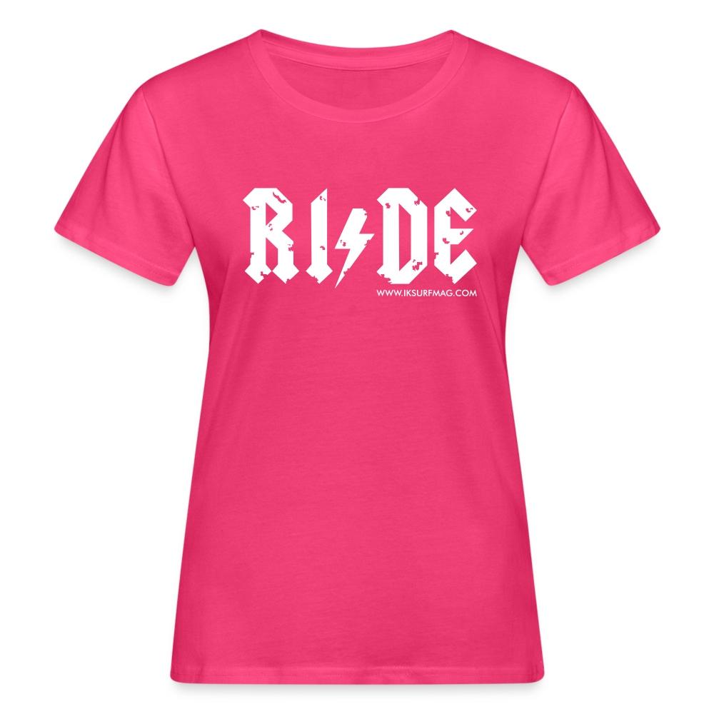RIDE - Women's Organic T-Shirt - dark red
