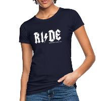 RIDE - Women's Organic T-Shirt - navy