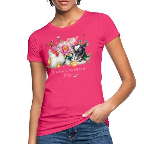 Love animals white text - Women's Organic T-Shirt