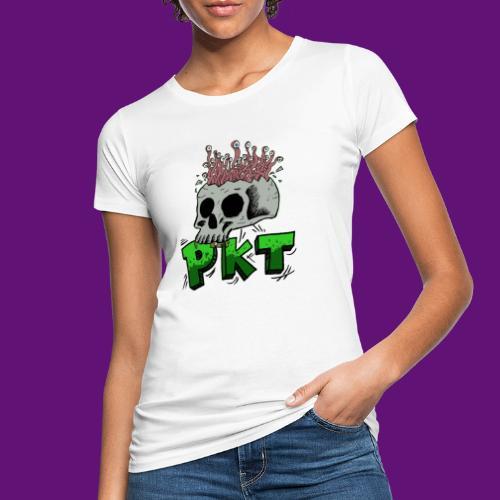 Skull and wormes - T-shirt bio Femme