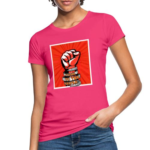 Power to the people - with peace and love protest - Women's Organic T-Shirt