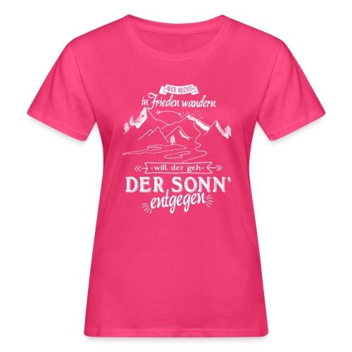 In Frieden wandern - Frauen Bio-T-Shirt