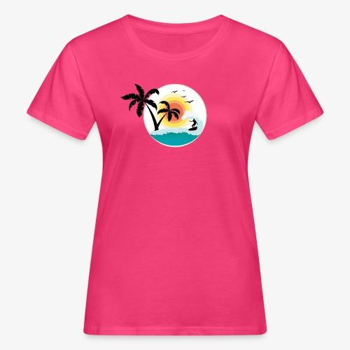 Surfing in paradise - Frauen Bio-T-Shirt