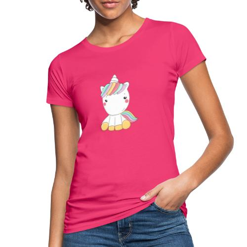 Niedliches Zauber Kawaii Einhorn in Pastelfarben - Frauen Bio-T-Shirt