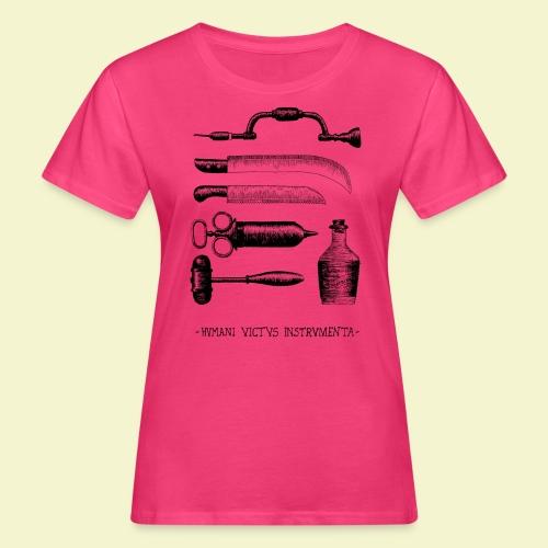 Humani Victus Instrumentia - Black - T-shirt ecologica da donna