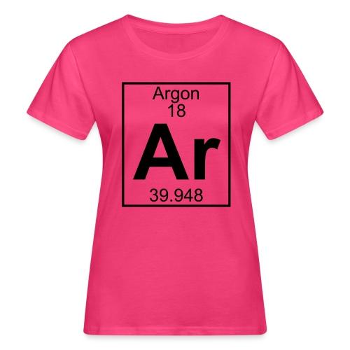 Argon (Ar) (element 18) - Women's Organic T-Shirt