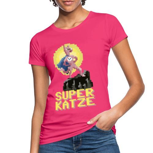 Die Superkatze - Frauen Bio-T-Shirt