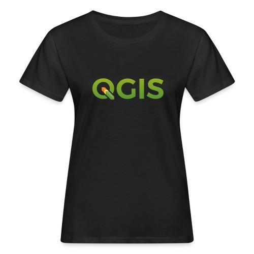 QGIS text transp bg 600dpi - Women's Organic T-Shirt