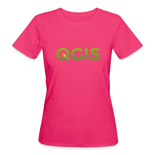 QGIS text logo - Women's Organic T-Shirt