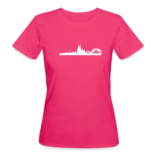 Köln-Skyline - Frauen Bio-T-Shirt