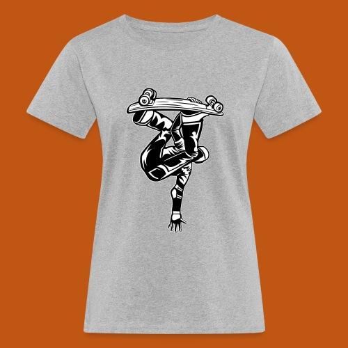 Skater / Skateboarder 03_schwarz weiß - Frauen Bio-T-Shirt