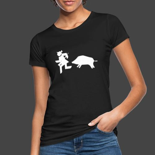 """""""Jägerin vs Bache""""-Jägerinnenshirt - Frauen Bio-T-Shirt"""