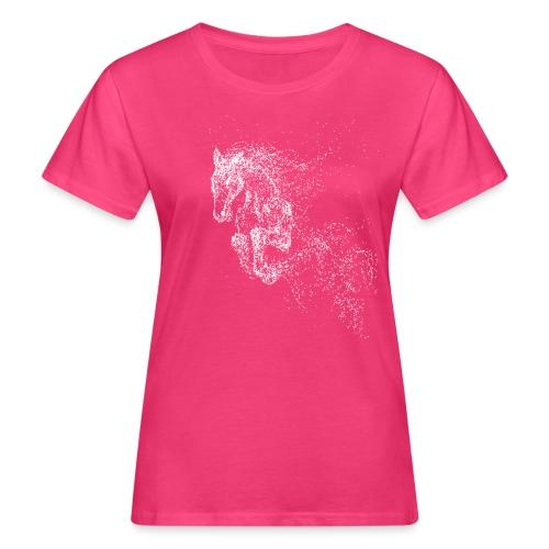Vorschau: jumping horse white - Frauen Bio-T-Shirt