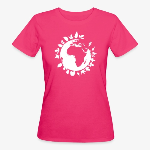 leaf globe white - Ekologisk T-shirt dam