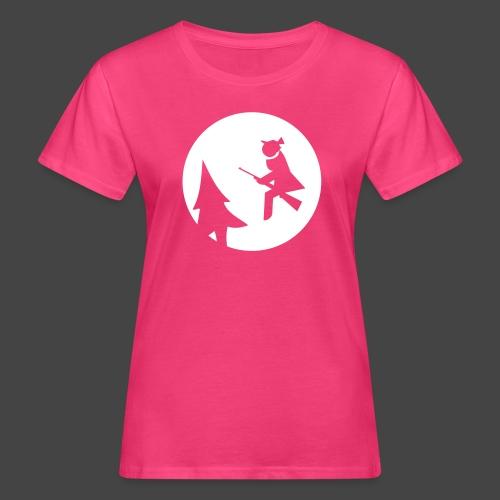 Jagdhexe in der Nachtschicht bei Schweinesonne - Frauen Bio-T-Shirt