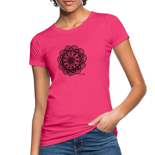 Grannys flower, musta - Naisten luonnonmukainen t-paita