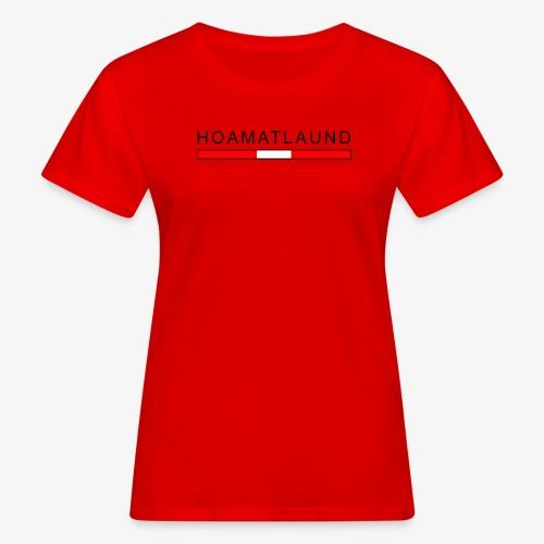 Hoamat mit österreich flagge - Frauen Bio-T-Shirt