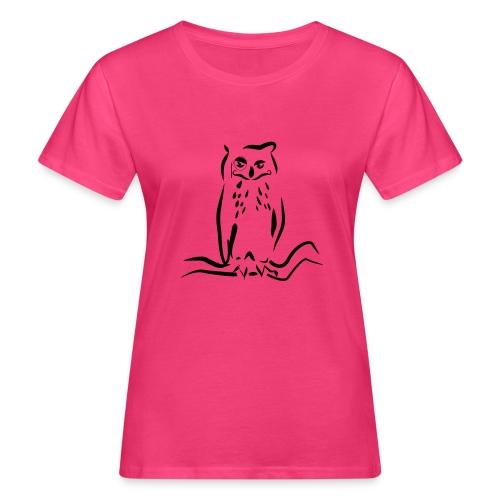 Gufo - T-shirt ecologica da donna