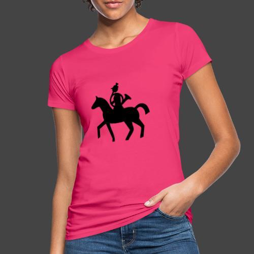 Parforcehornbläserin zu Pferd-Shirt für Jägerinnen - Frauen Bio-T-Shirt