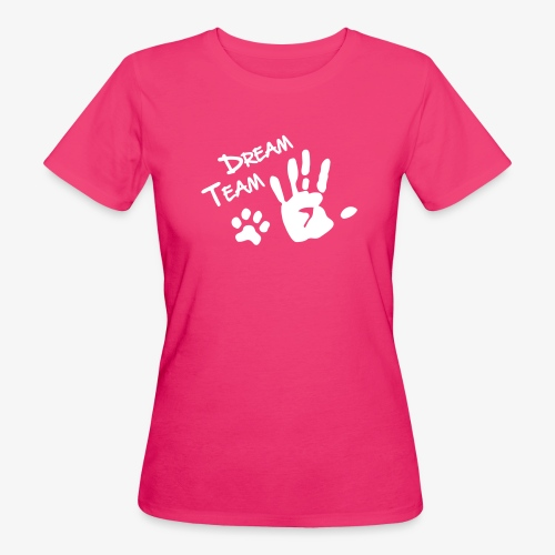Dream Team Hand Hundpfote - Frauen Bio-T-Shirt