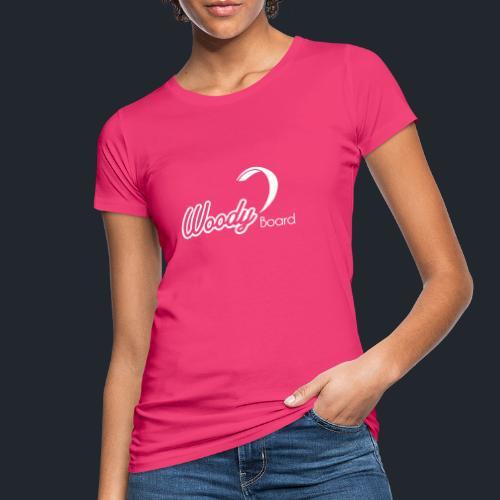 Logo Woodyboard Blanc - T-shirt bio Femme