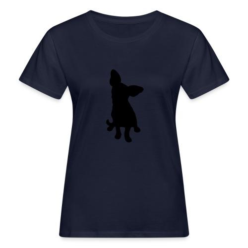 Chihuahua istuva musta - Naisten luonnonmukainen t-paita