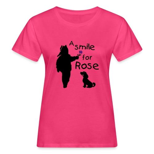 A Smile for Rose - T-shirt ecologica da donna