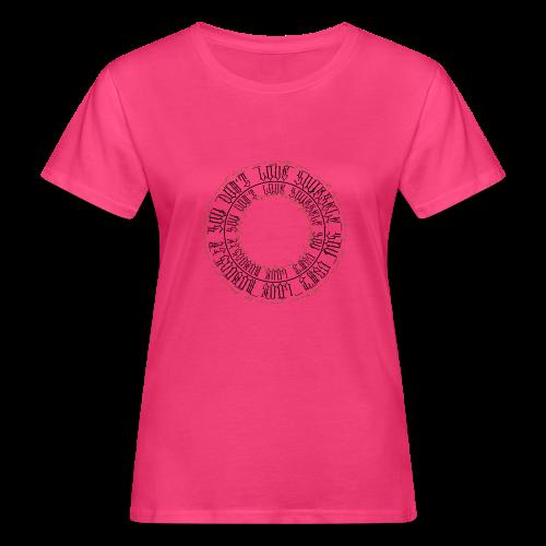 CALLIGRAPHY-CIRCLE - T-shirt ecologica da donna