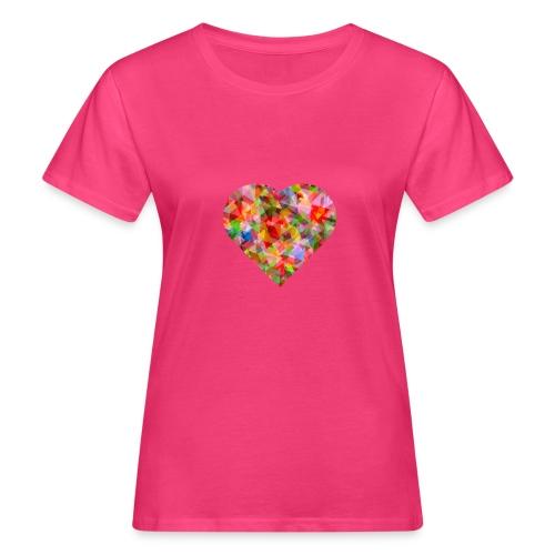 schoenes Herz in bunten Fraben - Frauen Bio-T-Shirt